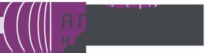 """Logo in Lila und dunkelgrau von """"Anja Weiss Haarkonzept"""""""